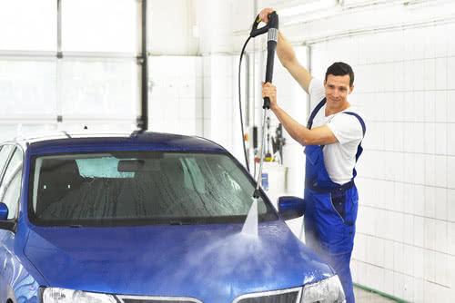 Industrielle Reinigung Autowaschanlage